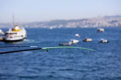 Fishing in Istanbul. Marmara Sea Royalty Free Stock Photography