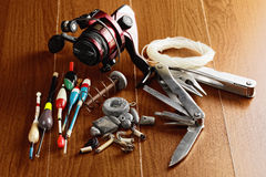 Fishing items Royalty Free Stock Photography