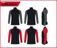 Fishing Jersey Sportwears Design Template royalty free illustration