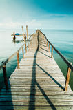 Fishing Jetty. View of a fishing jetty at a fishermen's village in Penang Island Stock Photos