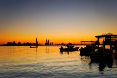 Fishing Jetty. Jetty near fishing village in Bahrain during sunset Stock Image