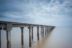 Fishing Jetty on Long Exposure Royalty Free Stock Images