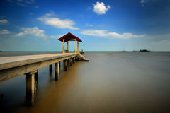 Fishing jetty at Port Dickson Royalty Free Stock Images