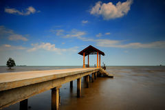 Fishing jetty at Port Dickson Stock Photo