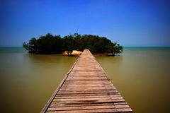 Fishing jetty at Port Dickson Royalty Free Stock Photos