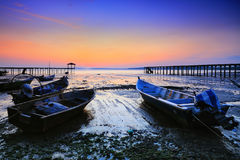 Fishing jetty at Port Dickson Royalty Free Stock Image