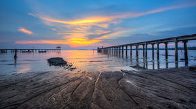 Fishing Jetty and Sunset I Stock Image
