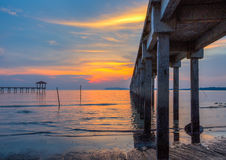 Fishing Jetty and Sunset II Stock Photography