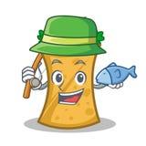 Fishing kebab wrap character cartoon. Vector illustration vector illustration