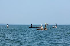 Fishing in Kerala Royalty Free Stock Images