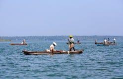 Fishing in Kerala stock photo