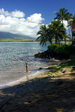 Fishing in Kihei, Hawaii Stock Photography