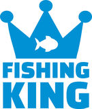 Fishing King with fish Stock Photography