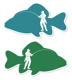 Fishing label Royalty Free Stock Photo