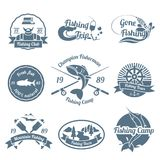 Fishing label set Stock Images