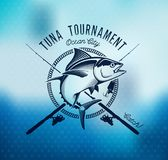 Fishing labels, badges, emblems and design elements. Illustrations of Tuna Stock Photo