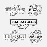 Fishing labels Royalty Free Stock Image