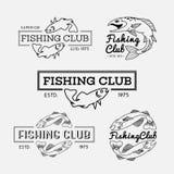 Fishing labels Royalty Free Stock Image