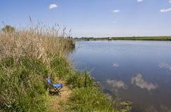 Fishing lake Stock Photo