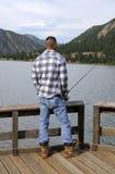 Fishing at the lake Royalty Free Stock Photos