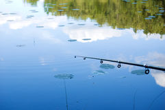 Fishing on lake Royalty Free Stock Photos