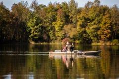Fishing at the lake stock photography