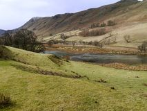 Fishing lake in the Boredale valley Stock Photos