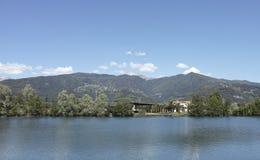 Fishing lake called lake of sun Royalty Free Stock Photo