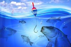 Fishing in lake Royalty Free Stock Photo