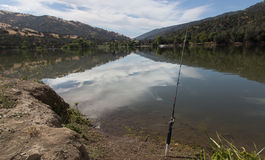 Fishing at lake del valle. Relaxing on a Sunday morning while fishing at lake del valle , livermore ca picture taken in 2017 Royalty Free Stock Image