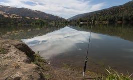 Fishing at lake del valle Royalty Free Stock Image