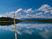 Fishing on Lake Laberge, Yukon Territory, Canada Stock Photo