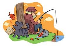 Fishing On The Lake stock illustration