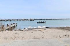 Fishing on Lake Michigan Stock Images