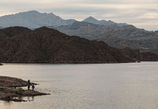 Fishing at Lake Mohave Stock Images