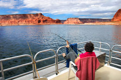 Fishing Lake Powell Royalty Free Stock Image