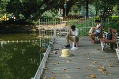 Fishing in the lake Stock Photos