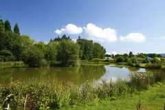 Fishing Lake. At Twelve Oaks Holiday Park Royalty Free Stock Photos