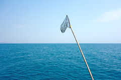 Fishing landing net Stock Photography