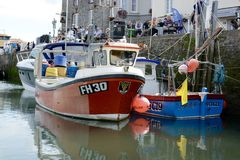 Fishing and leisure boats Stock Photography