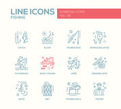 Fishing - line design icons set Stock Images