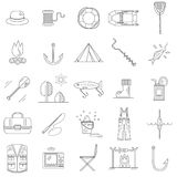 Fishing Line icons. Royalty Free Stock Images
