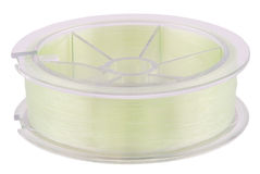 Fishing line on spool (Clipping path) Stock Photos
