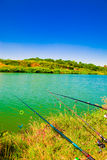 Fishing lines royalty free stock photography