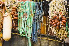 Fishing lines of different shapes and colors Royalty Free Stock Image