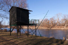 Fishing lodge Stock Photo