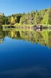 Fishing Lodge In Italy Stock Photo