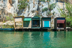 Fishing lodges Royalty Free Stock Photo