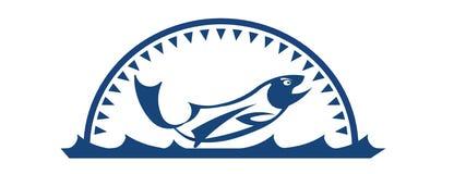 Fishing logo Royalty Free Stock Images