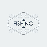 Fishing logo. Vector illustration Stock Photo